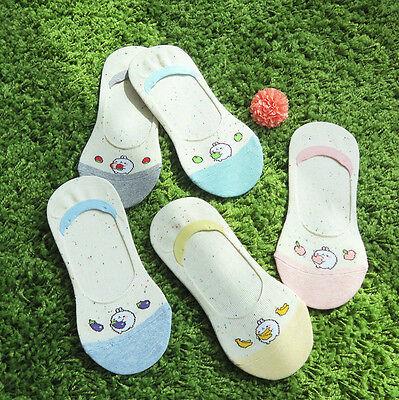 Molang Womens Low Cut Short Casual Soft Comfortable Socks US 5-8 Size 5 Pairs #2