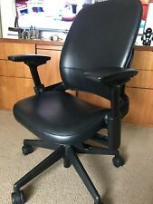 Steelcase Leap V2 Black Leather Office Desk Chair