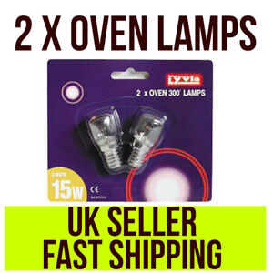 2x-Oven-Bulb-15w-Lamp-300-C-SES-E14-base-T22-Pack-Of-2-Small-Screw-by-Lyvia