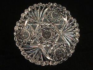Glass-Scalloped-Etched-Serving-Dish-Bowl-6-034-x-1-1-2-034
