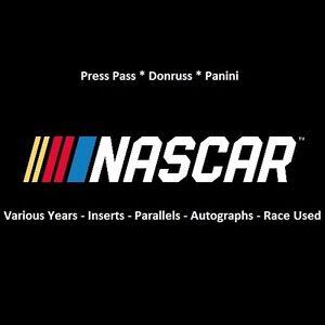 2017-Panini-Select-Racing-Nascar-Prizm-Insert-Parallel-You-Pick