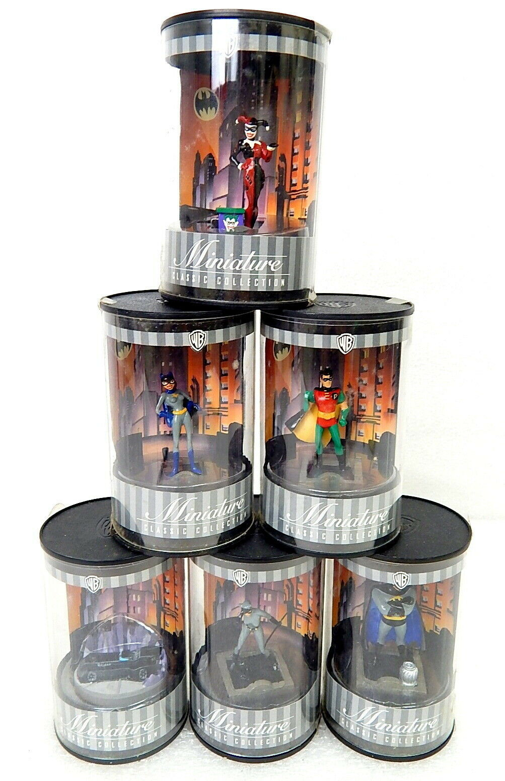1T Set di 6 BATuomo Warner Bros mini cifra Harley Quinn Catdonna la Batgirl di più