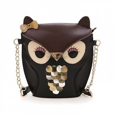 New Women Owl Print Satchel Messenger Shoulder Bag Handbag Cross Body Bags ItS7