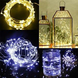 20-50-LED-String-Battery-Operated-2-M-5-M-Copper-Silver-Wire-Fairy-Light-Xmas-PW