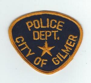 Details about VINTAGE GILMER, TEXAS POLICE DEPT  (CHEESE CLOTH BACK) patch