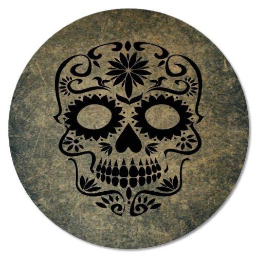 """Liège-skull-crâne-têtes de mort squelette Dessous de verre 6-tlg.set /""""TETE DE MORT/"""""""