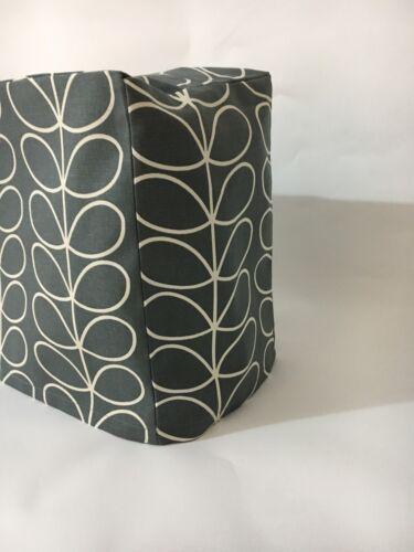 Scandinavian linéaire tige tissu gris machine à coudre Housse//Housse//HANDMADE