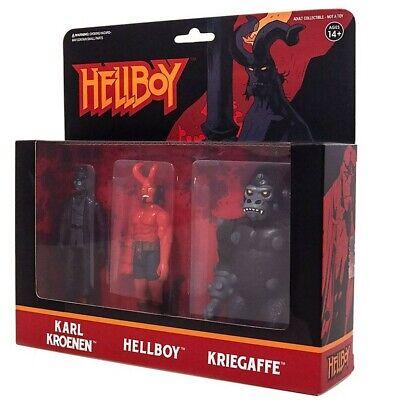 HELLBOY KROENEN Hellboy /& kriegaffe réaction Pack 3 Neuf Scellé Wave 1 Film Pack