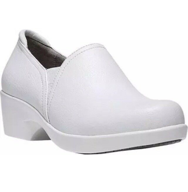 Women Naturalizer Freeda Work Clog shoes White Wide D8384LE101
