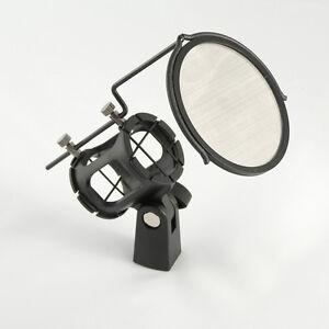 Smp-012-Choc-Mount-with-Pop-Filtre-Vent-popschutz-POPKILLER-Microphone-Araignee-NEUF