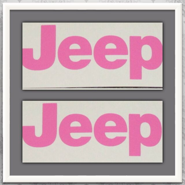 JEEP DECAL SET IN PINK  (pair) Window Stickers Wrangler CJ JK TJ YJ
