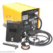 190 AMP MIG195 220V Flux Core Welding Machine Gas No Gas Welder w/Auto Wire Feed