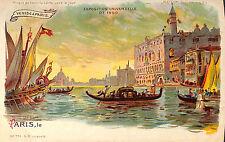 CPA TRANSPARENTE PARIS EXPOSITION UNIVERSELLE WORLD FAIR VENISE VENICE 1900