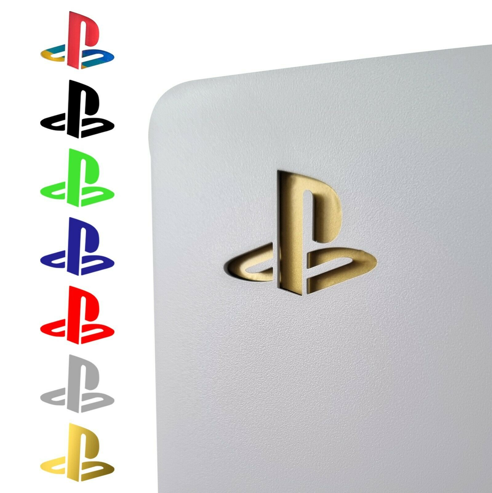 PS5 Retro Playstation Logo Vinyl Sticker Decal Skin Underlay 7 Coloured Designs