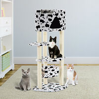 Cat Tree Tower Condo Furniture Scratch Post Kitty Pet House Play W/hammock