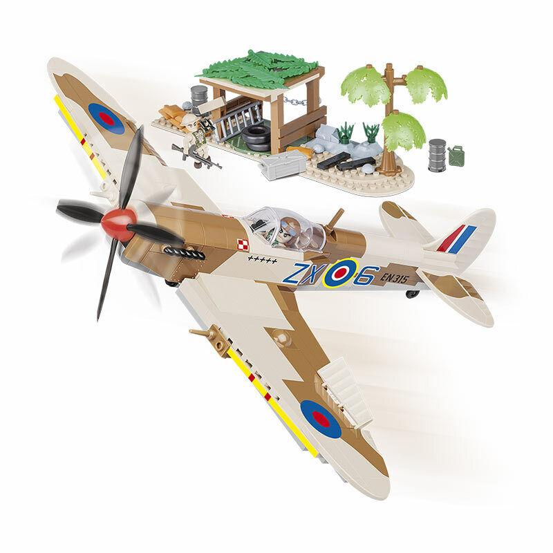 COBI Supermarine Spitfire Desert Airstrip 5545 400pcs WW2 Aircraft