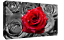 Floral-Red-Rose-on-Bed-of-Roses-Abstract-CANVAS-WALL-ART-Picture-Print