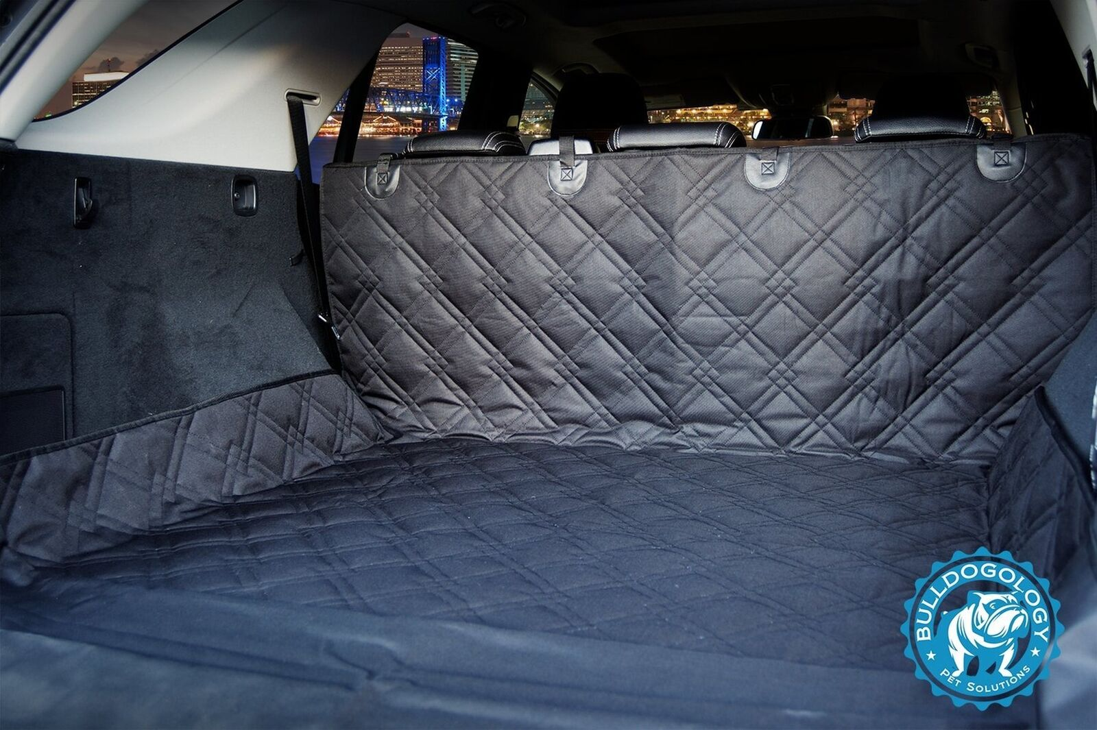 "Bulldogology Heavy Duty Dog Cargo Liner for All Vehicles X-Large 55 x106"" nero"