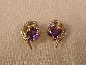 14K-GOLD-HEART-SHAPED-SAPPHIRE-DIAMOND-EARRINGS