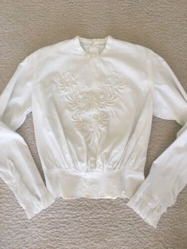 Vintage White Edwardian Blouse Excellent Condition