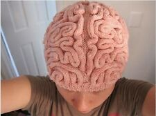 Cap Brain Hat Knitted cold Winter Creepy Halloween Scary funny skullcaps gift