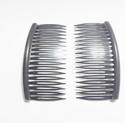 4 x Sidecombs Side Combs Plastic Neon Clear Black Hair Slides Fascinator UK Made