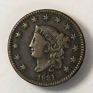 1831-CORONET-HEAD-1C-LARGE-CENT-EARLY-US-COPPER-Lot-R128