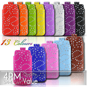Diamond-Premium-PU-Leather-Pull-Tab-Pouch-Case-For-Various-Sony-Ericsson-Phones
