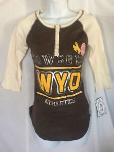 Details about Wyoming Cowboys WYO Women's Mascot T-Shirt Official Licensed  College Apparel XS