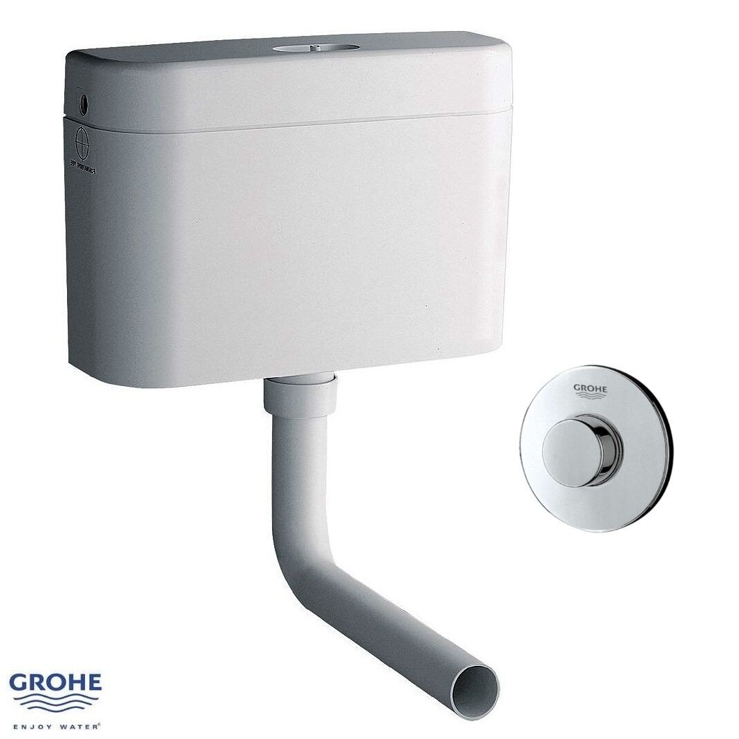 GROHE Adagio caché 6 ltrs WC citerne 37945 sh0 & round air bouton 37761 000