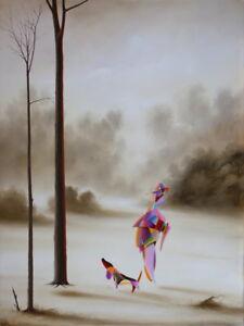"""Kunst Surrealistisches Ölgemälde Bild Gerahmt 80x60cm """"auf Der Jagd"""" Andrey Shcheglov Fashionable And Attractive Packages Antiquitäten & Kunst"""