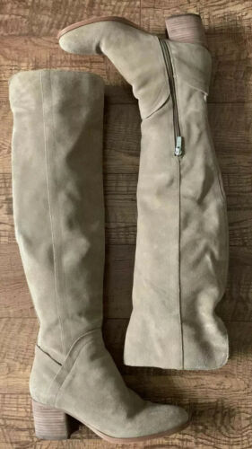 MARC FISHER OVER-THE-KNEE SUEDE BOOTS - ESCAPE  SI
