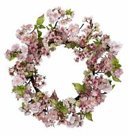 Floral Summer Spring Home Decor 24 Cherry Blossom Door Hallway Accent Wreath