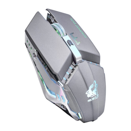 X11 Rechargeable Wireless Gaming Mouse Silent LED Backlit Optical Mice 2.4GHZ US