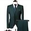 miniature 9 - Mens Suits Sets 3 Pcs Slim Fit Coats Tuxedos Groom Groomsman Formal Work Casual