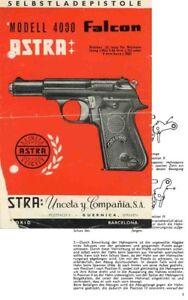 astra falcon c1974 m4000 manual ebay rh ebay com Falcon X Beretta Pistol Chart