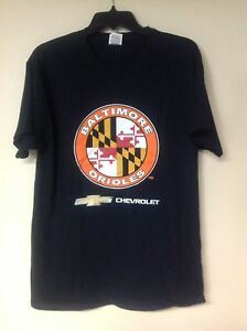 Baltimore-Orioles-Maryland-Flag-Chevy-Sponsored-T-Shirt-SGA-Size-XL-New