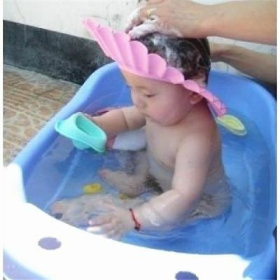 Bathroom Soft Shower Wash Hair Cover Head Cap Hat for Child Toddler Kids Bath Bd