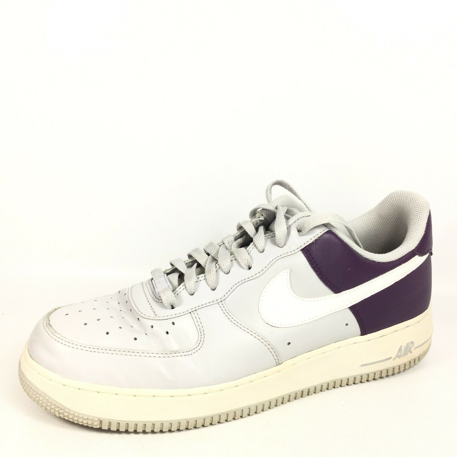 Nike Air Mens Size 11.5 M Grey/White/Lilac Sneakers.