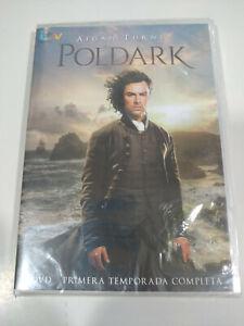 Poldark Prima Stagione 1 Completa Aidan Turner DVD Spagnolo Inglese Nuovo - 3T