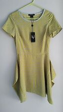 Vertigo paris anthropologie womens dress sz xs new lemongrass green art to wear
