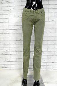 Pantalone-Donna-JECKERSON-Taglia-28-Jeans-a-Costine-Pants-Woman-Cotone-Slim
