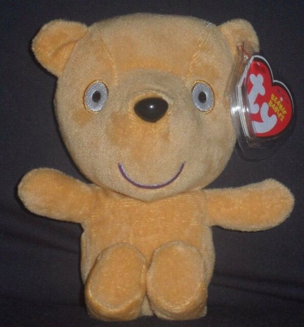 TY PEPPA S TEDDY BEANIE BABY - UK EXCLUSIVE PEPPA PIG THEME PARK - MINT TAG b7cc0951e8f3