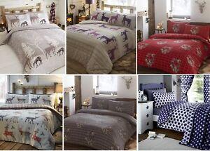 Image Is Loading 100 Brushed Cotton Flannelette Duvet Quilt Cover Flannel