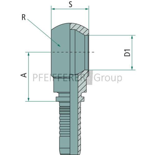 spezial PN 16 RAM M26x1.5 Pressnippel Ringanschluss