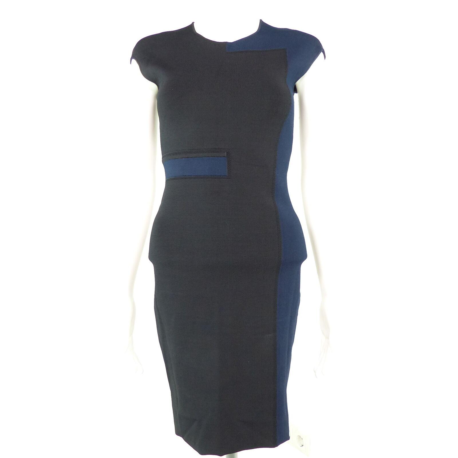 ALEXANDER WANG Kleid Gr. S schwarz blau Damen Figurbetont Stretch Kleid Robe