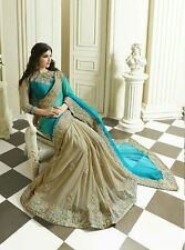 Indian Bollywood Ethnic Designer Saree Party Wear Sari White Traditional Dress