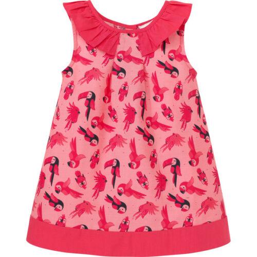 Topomini traumhaftes Baby Kleid mit Papageien-Motiv Gr 80 86