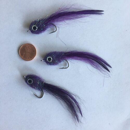 Flies 3 Saltwater KINKY MUDDLER PURPLE /& BLACK FISHING FLY ~ Size 2 ~ Three
