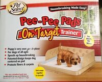 Pet Select Pee Pads On Target Trainer Indoor Potty Training Puppy Dog Housebreak